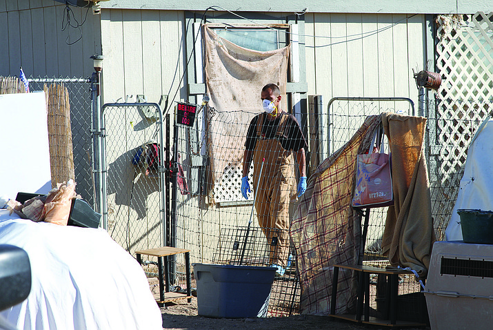 Mohave County officials went to the Rescued Unwanted Furry Friends Foundation animal sanctuary and condemned the house on the Laguna Road property Thursday afternoon in Golden Valley. Officials now must decide what to do with the nearly 200 animals left behind.