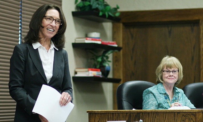 """Tuesday, Barb U'Ren will tell the COCSD Governing Board that she intends to """"transition"""" away from the school effective June 30 – and that she would like the board to appoint Assistant Superintendent Steve King to replace her. (VVN/Bill Helm)"""