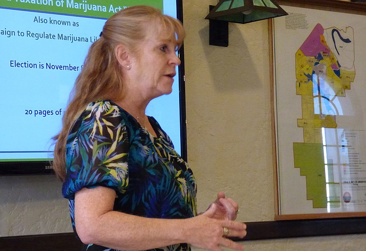 MATForce Director Merilee Fowler addresses Verde Valley Leadership Class IX. (Courtesy photo)
