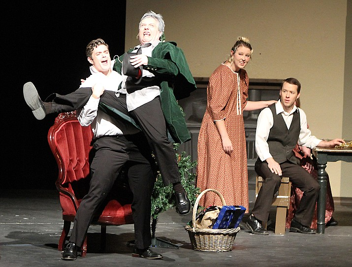A shot during the performance of 'Scrooge' that took place at Kingman High School.
