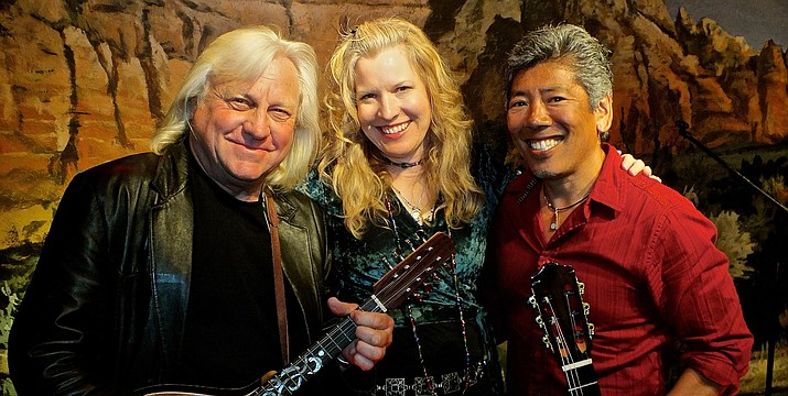 The eclectic trio of 'Miller, Martin & Ki' features the work of two virtuoso acoustic guitarists combined with rich lead vocals and harmonies and featuring original bluesy and classic rock repertoire.