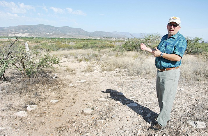 Camp Verde Parks and Recreation Division Manager Mike Marshall stands at the site of the Town's proposed community park off SR 260. (Photo by Bill Helm)