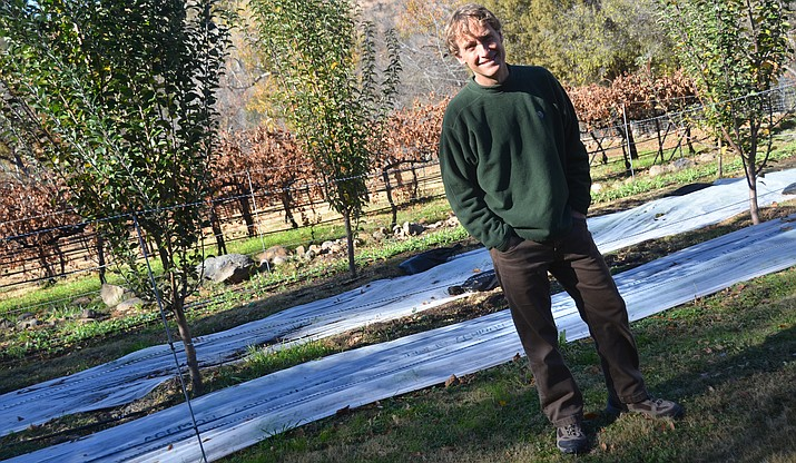 Eric Glomski, owner of Page Spring Cellars, thinks of innovative ways to make the property a more self-sustaining site. (VVN/Vyto Starinskas)