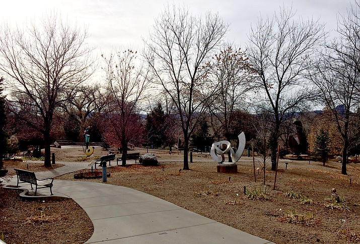 The Richard Marcusen Sculpture Garden at Yavapai College
