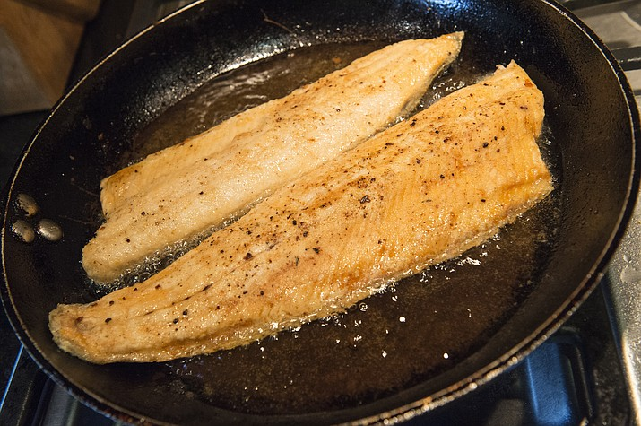 Pan-seared trout.