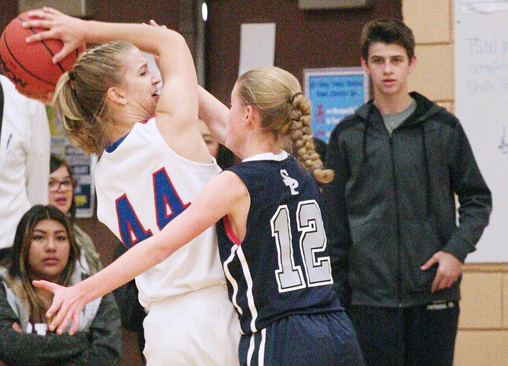 Camp Verde senior forward Kayla Hackett, top photo, scored 16 points on Dec. 15 and 13 points on Dec. 16. (VVN/Bill Helm)
