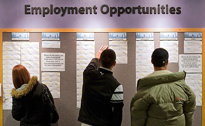 Arizona's unemployment rate remains higher than the national average of 4.6 percent, a decline of three-tenths of a point from October.