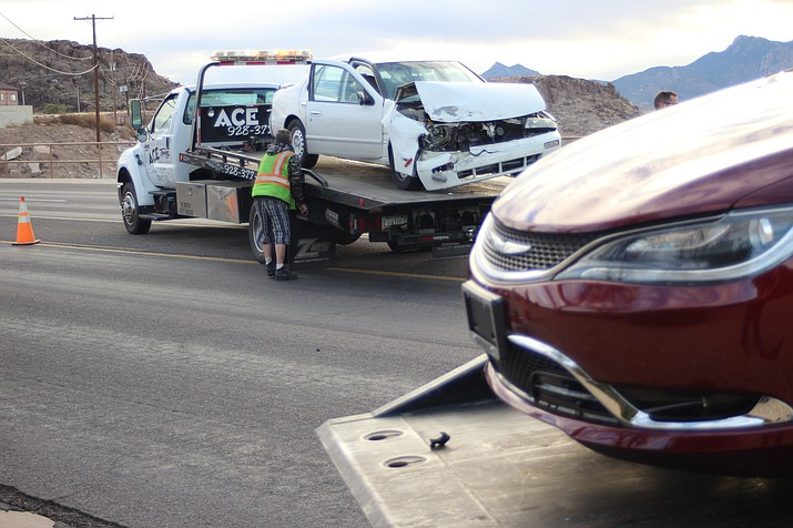A crash on the 1000 block of Andy Devine Avenue in front of the Ramblin' Rose Motel Wednesday morning might have thrown some commuters for a loop.
