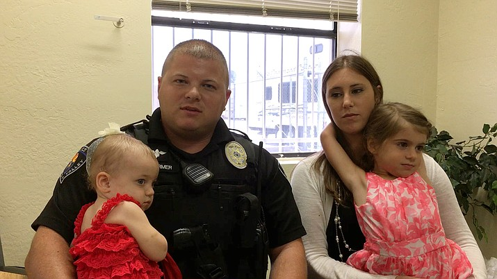 The family of Chino Valley Police Officer Stephen Farmer. His 1-year-old daughter, Gabrielle, is back in the hospital and will likely be there for months.