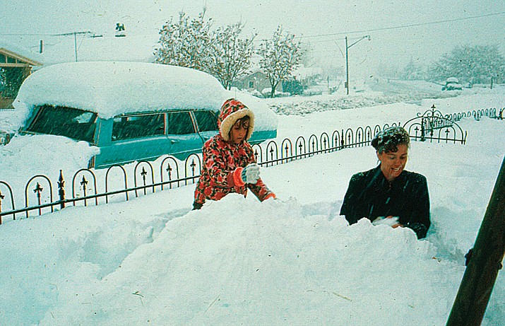 According to the National Weather Service, Cottonwood's last white Christmas happened in 1967. The great storm dropped 10 inches of snow locally, and dumped 44 inches of snow in Flagstaff.  (Courtesy photo by Paul A. Handverger)