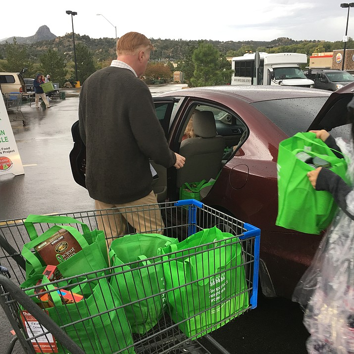 The Yavapai Food Council's Neighborhood Project collects food donations the second Saturday of even numbered months in a green bag, and those are then distributed to food banks throughout the county.