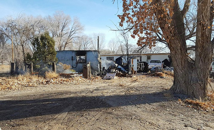 The Shiprock Police Department and several fire crews were on hand to put out a house fire that left one person deceased Dec. 13. Submitted photo