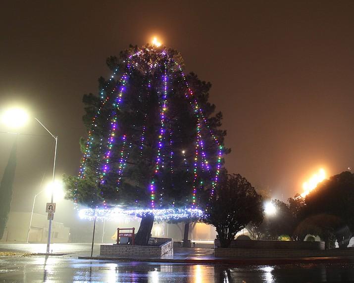 The City of Kingman's Christmas tree.
