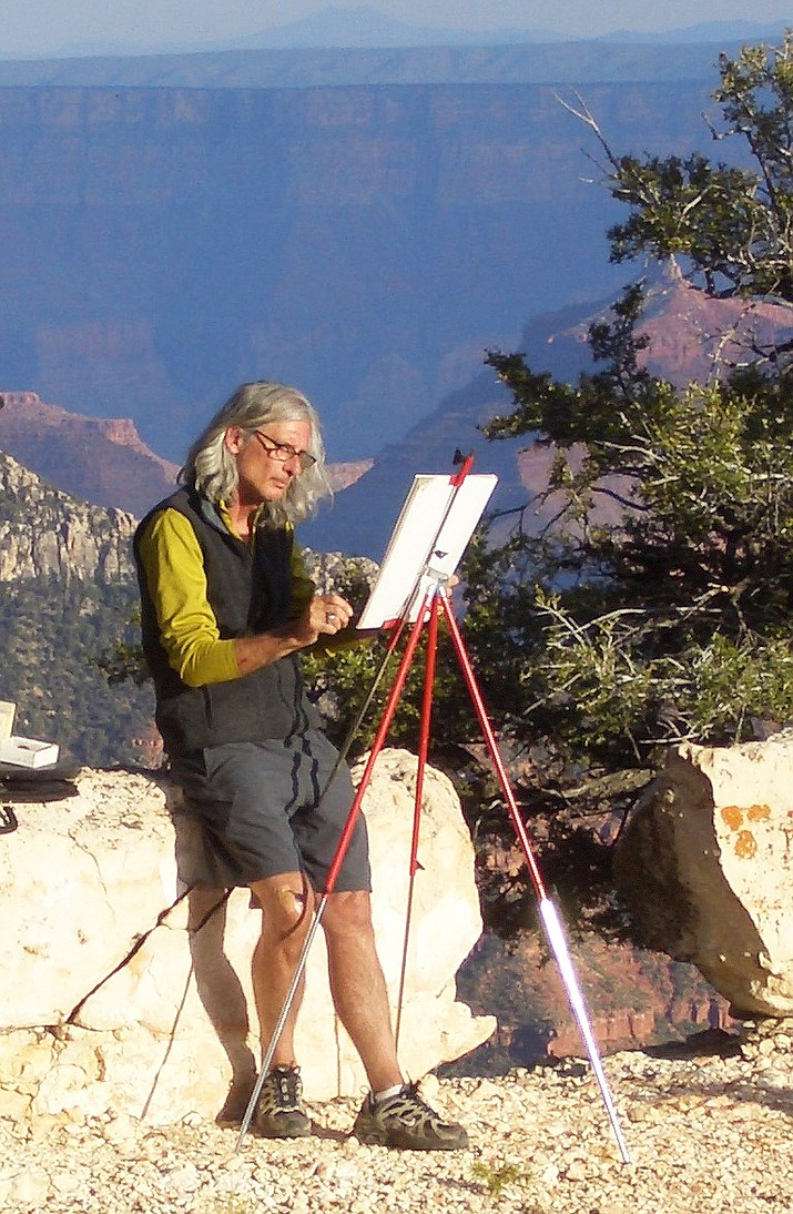 "Flagstaff painter Bruce Aiken opens the series with ""Extreme Art"" on Monday, Jan. 9. For 33 years the artist lived within Grand Canyon while working for the National Park Service."