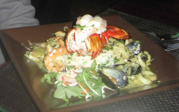 Seafood Risotto at The Golden Goose