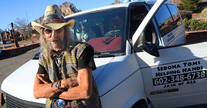 'Sedona Tom' Nuanez picks up people from bars for a donation, who don't want to drink and drive in Sedona, Cottonwood and Jerome. VVN/Vyto Starinskas