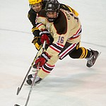 Brown's Charlie Corcoran had four goals in regulation as the ASU Sun Devils take on the Brown Bears from Rhode Island in the Desert Hockey Classic at the Prescott Valley Event Center Friday, December 30. (Les Stukenberg/The Daily Courier)