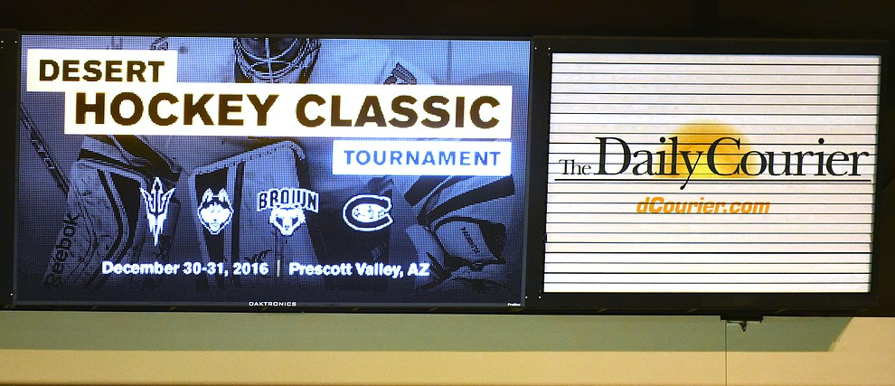 The Bears from Brown University take on the UConn Huskies in the championship match of the Desert Hockey Classic at the Prescott Valley Event Center Saturday, December 31. (Les Stukenberg/The Daily Courier)