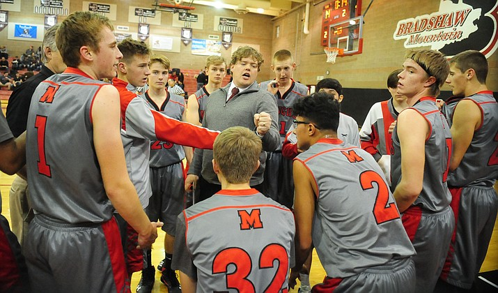 Though much of his team – including Mingus Coach David Beery – were either sick, getting sick, or recovering from being sick, the Marauders finished second in the Sabino Holiday Tournament last week. (Photo by Les Stukenberg)