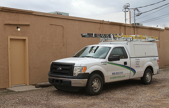 A Suddenlink work truck spotted in Kingman Thursday.