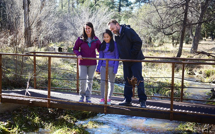 New Prescott City Manager Michael Lamar and his wife, Deanna, and daughter, Edie, enjoy hiking around the Prescott area in their free time.