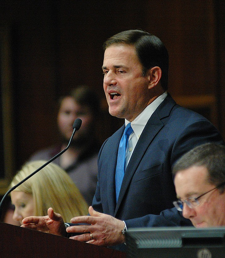 Gov. Doug Ducey at Monday's State of the State address.