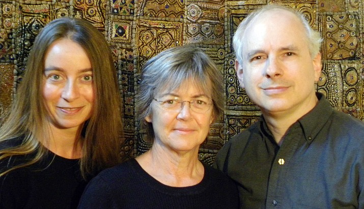 Yarrow returns to Vino Di Sedona on Sunday January 15, 7-10 PM. Yarrow was formed in 2011 when three musicians, Patty and Tom Hoisch and Patricia Fonseca, shared a desire to push the boundaries of the familiar. Recognizing how diversity in their backgrounds could allow their collaboration to become larger than the sum of its parts, they began to cross folk and rock music with classical music and poetry.