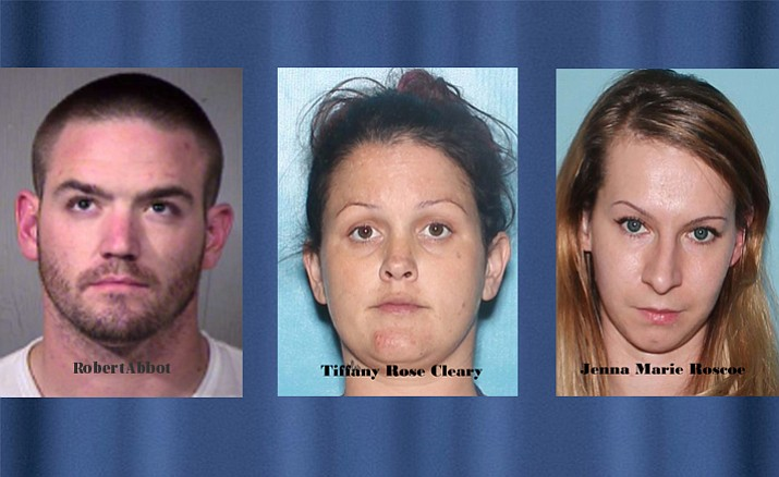 Robert Abbot, Tiffany Rose Cleary and Jenna Marie Roscoe