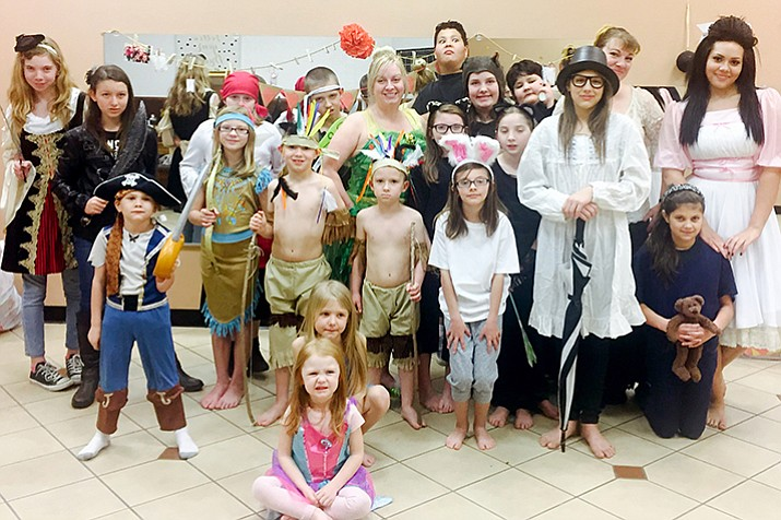 Cast of Peter Pan.