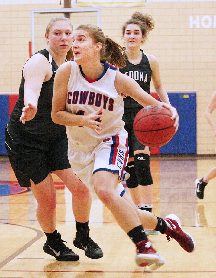 Senior forward Kayla Hackett scored seven points for Camp Verde on Tuesday at home against Sedona-Red Rock.