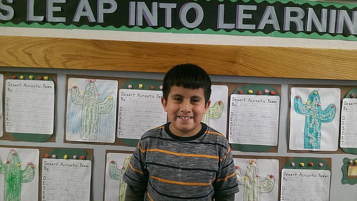 Second-grader Miguel Vera-Reyes, who is in Ms. Newell's class at Abia Judd Elementary, is the Prescott Unified School District Student of the Week. (Courtesy/PUSD)