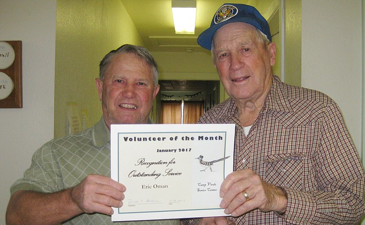 Volunteer of the Month, Eric Oman.