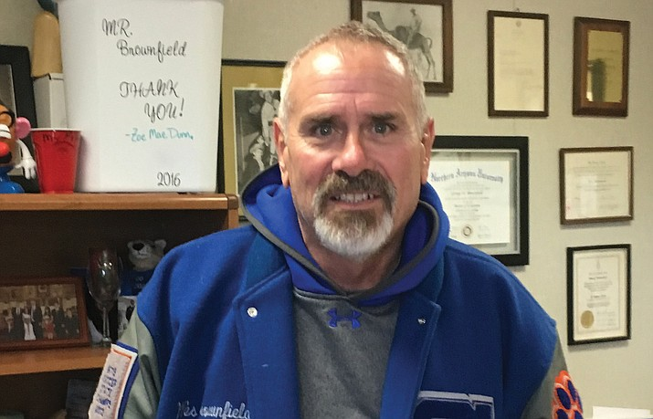 Wes Brownfield, the principal at Chino Valley High School, is retiring at the end of this school year. The district intends to honor him with something he missed as a high school student: A chance to receive his diploma in a ceremony.