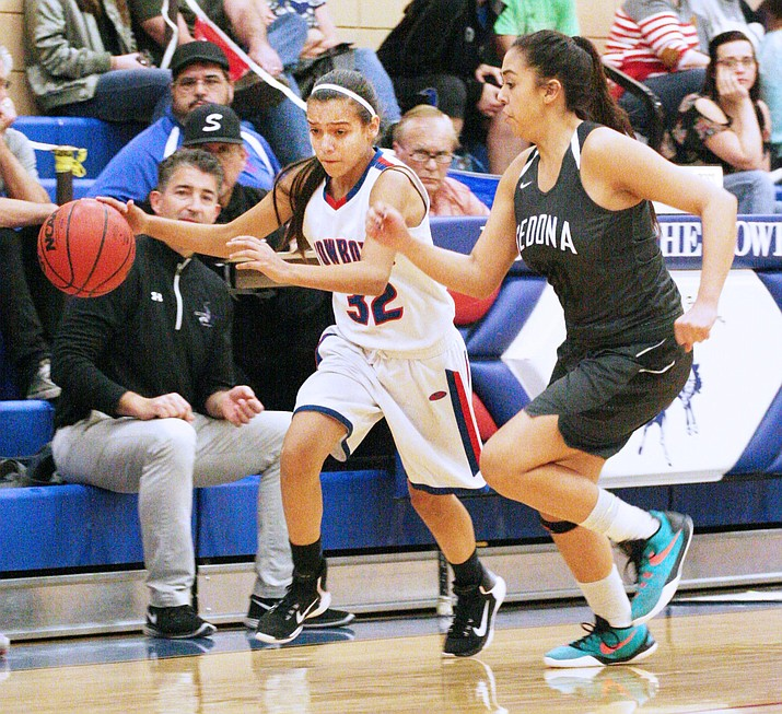 Freshman guard Amanda Lozanilla scored 10 points for Camp Verde on Jan. 13 at home against Paradise Honors.