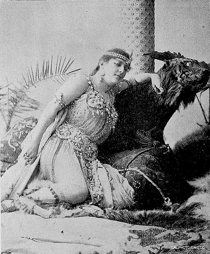Lillian Lewis as Cleopatra (The Wasp, December 1895).