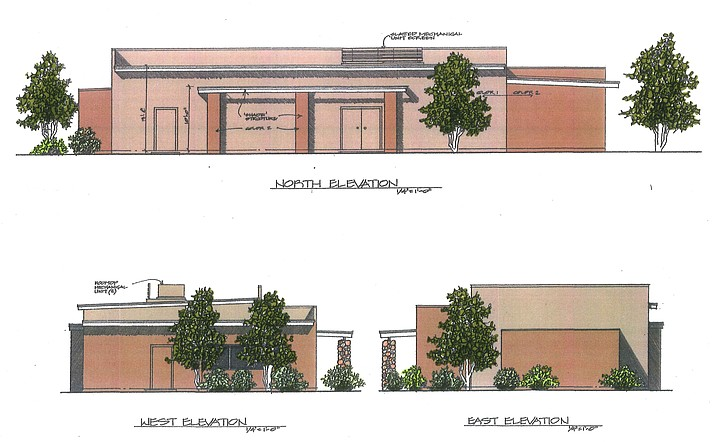 An applicant is requesting approval of a design review application for the construction of a new 2,664 square foot lodge building for the intended use as a private meeting hall for the members of the Masonic Lodge. (Courtesy of Planning and Zoning agenda)