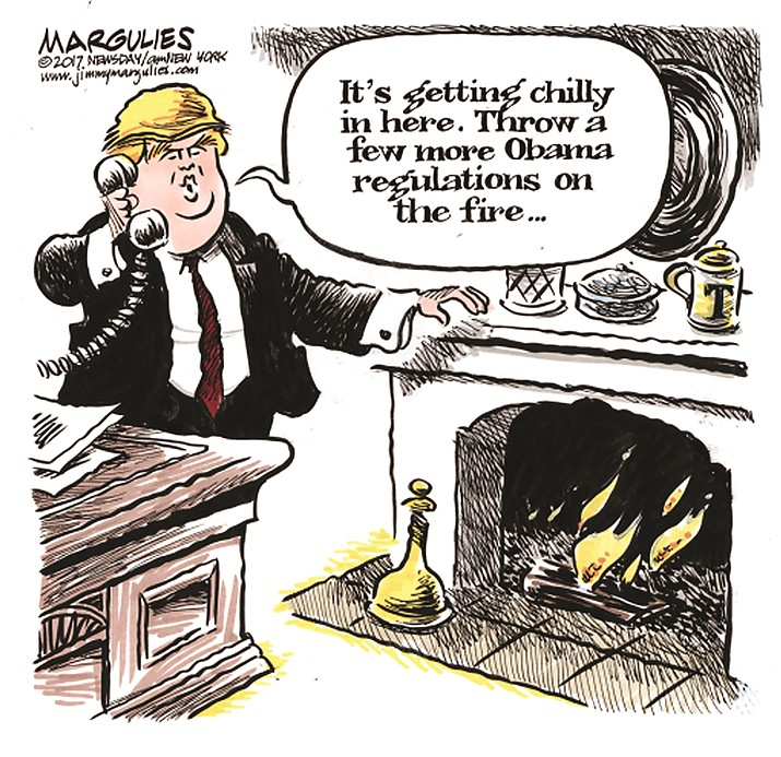 The editorial cartoon in the Jan. 23, 2017 edition of The Daily Courier.