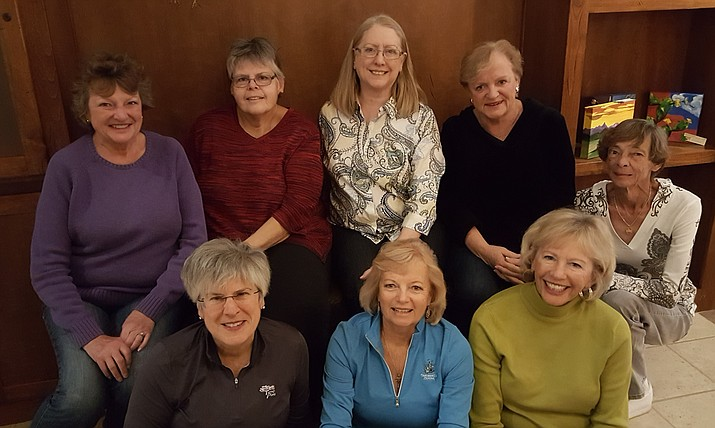 From left, Row 1: Jane Weinberg, Dawn Bush, Julie Larson; Row 2: Kay Klein, Becky Rubin, Michelle Stoor, Kathy Davidson, Sandy Bruns