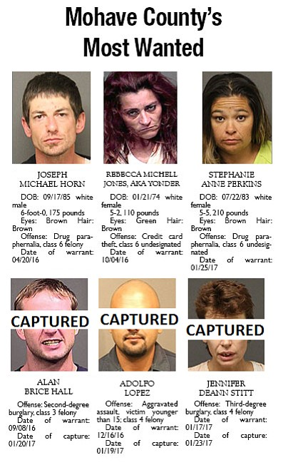 As of Wednesday, the following people had warrants.