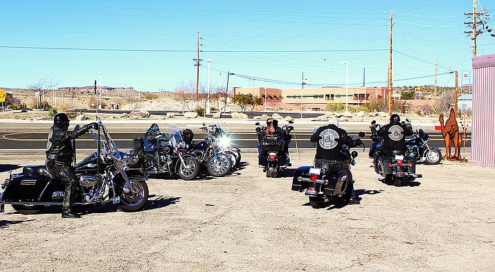 """Members of the Libertarian's motorcycle club auditioned to be extras Saturday for the film """"Drafted: 2035"""" that is being made in the Kingman area."""