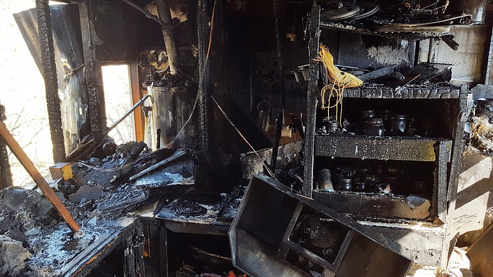 Verde Valley Fire District crews responded to a house fire on the 3200 block of East Grand View Drive on Sunday at 10:45 a.m.  VVFD courtesy photo)
