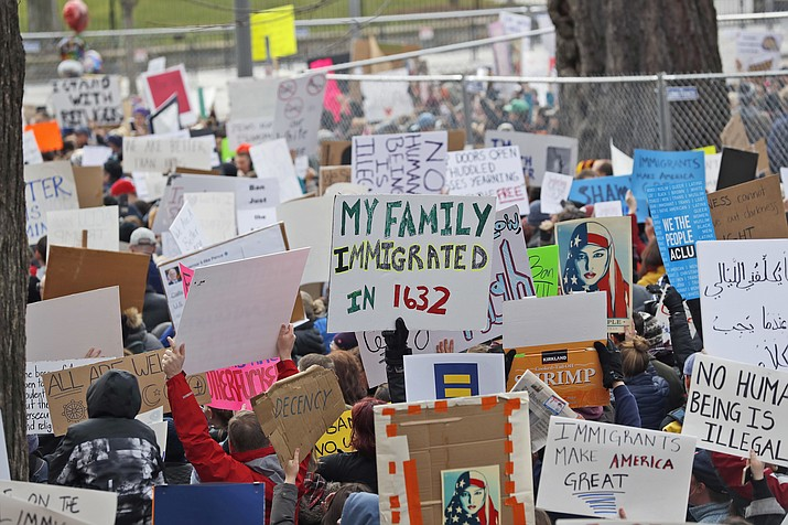 Protests across the nation took place this weekend after President Trump issued a ban on immigrants from seven nations entering the United States until they had undergone additional screenings.
