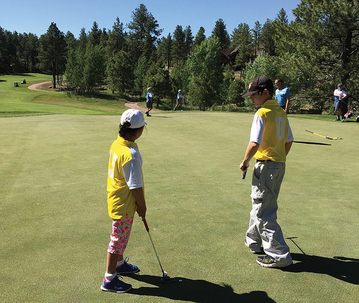 Elephant Rocks Junior Golfers compete in a tournament in 2016.