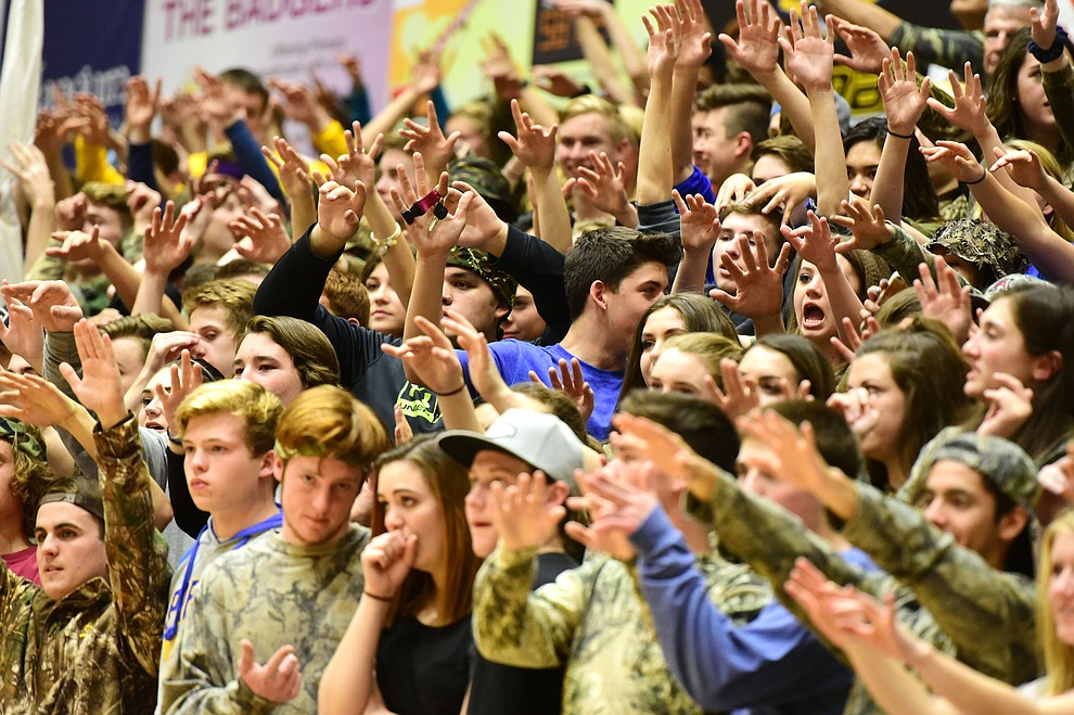 Prescott fans get the voodoo going as the Badgers take on the Bradshaw Mountain Bears Tuesday, January 31 in Prescott. (Les Stukenberg/The Daily Courier)