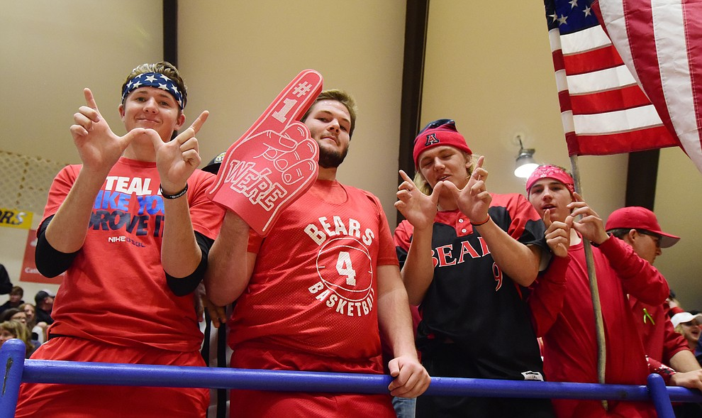 Bradshaw Mountain's fans are looking for a win as the Bears take on the Prescott Badgers Tuesday, January 31 in Prescott. (Les Stukenberg/The Daily Courier)