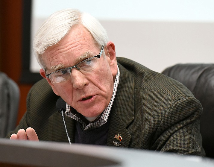 Prescott Mayor Harry Oberg and the rest of the City Council voted Tuesday to place a proposed .75 percent sales tax hike before voters on Aug. 29 to fix the public safety workers pension program.