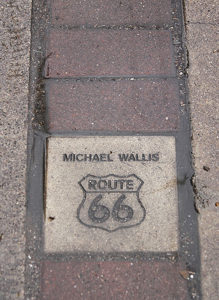 A Walk of Fame brick along Andy Devine Avenue in downtown Kingman near Hotel Brunswick.