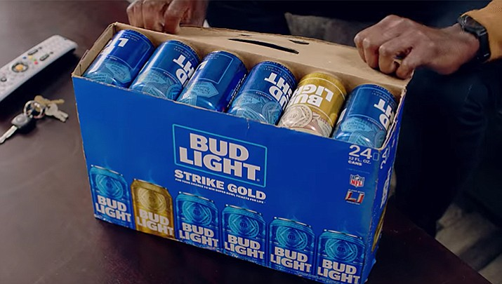 In December Bud Light introduced the Gold Super Bowl LI Can campaign. If you found a Gold Can in your case of Bud Light and upload a photo, you became eligible to win Super Bowl tickets for life. That's just what happened to 52-year-old Lyle Randa after he made a quick beer run.
