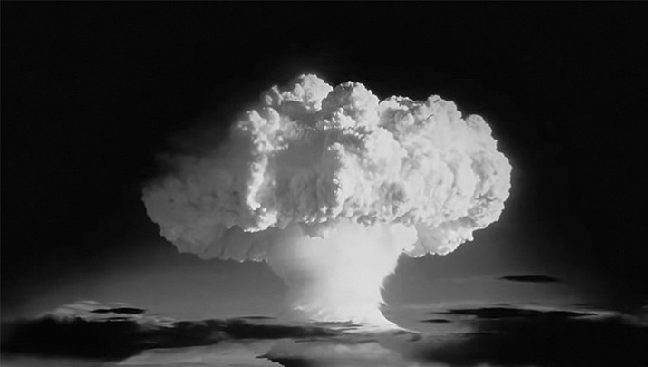 The first hydrogen bomb test at Enewetak Atoll on November 1, 1952