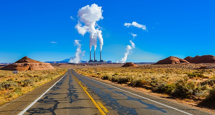 Navajo Generating Station sits a few miles south of Page, Arizona. Adobe stock